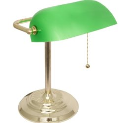Light Accents Metal Bankers Lamp Desk Lamp