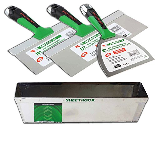 USG Sheetrock Matrix Stainless Steel Drywall Taping Knife Set