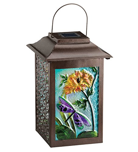 Regal Arts 16.5 Inch Solar Garden Dragonfly Lantern