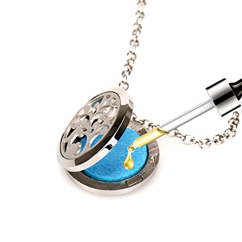 Aromatherapy Diffuser Locket Necklace, Faetin Essential