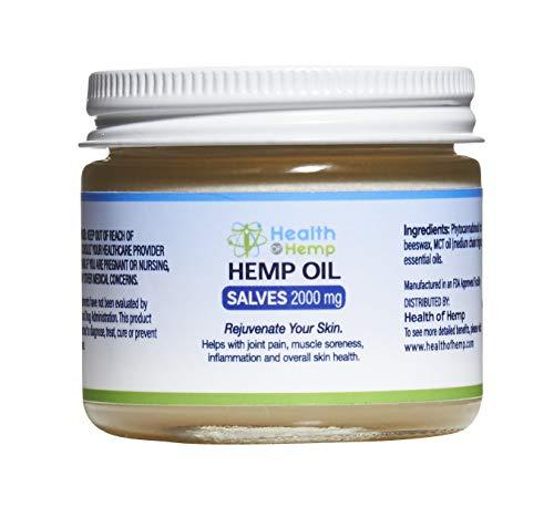 Health of Hemp Hemp Salve 2000MG Rejuvenating Hemp Cream