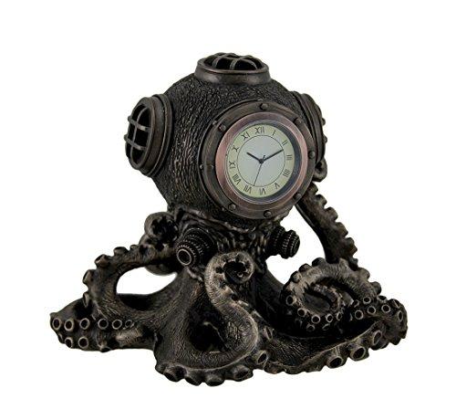 Resin Desk Clocks Bronze Finish Steampunk Octopus