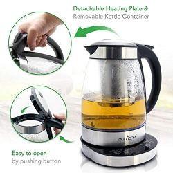 NutriChef Electric Glass Water Kettle - 1.7L Original