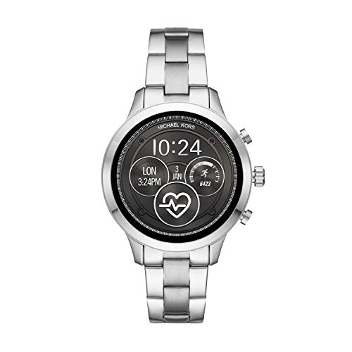 Michael Kors Access Runway Stainless Steel Smartwatch, Color: Silver