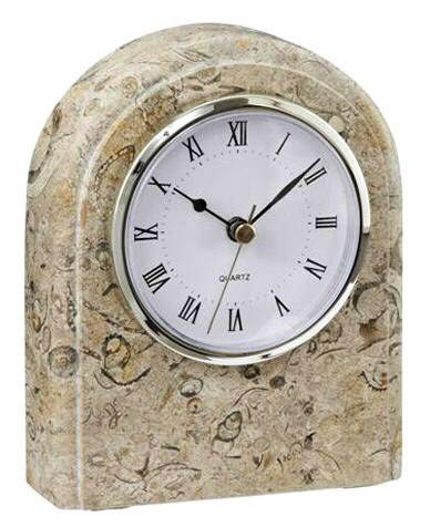 Khan Imports Decorative Coral Stone Clock