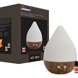 Pursonic Bamboo and Ceramic Aroma Diffuser