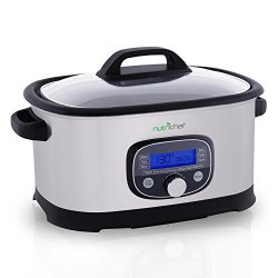 NutriChef Sous Vide Slow Cooker - 11 in 1 Steamer
