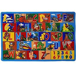 Mybecca Kids Rug ABC-1 Numbers Children Area Rug