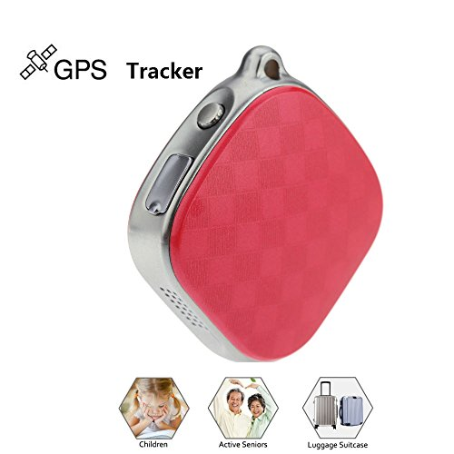 Red Hangang Mini Locator Micro A9 GPS Tracker Wifi Positioning Tracker Multifunction tracker Locator GPS+LBS Dual Modes Locating Device Tracking SOS Alarm Voice Monitoring For Vehicle,Elderly