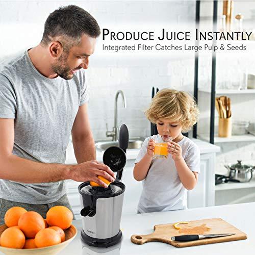 Stainless Steel Electric Juice Press - Citrus Juicer