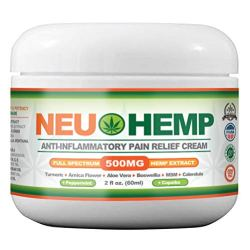 Hemp Oil for Pain Relief - Organic Cream 500mg