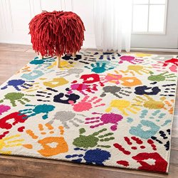 nuLOOM ECCR15A Contemporary Pinkieprint Kids Rug