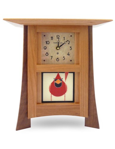 American Made Contemporary Cherry Wood Mantel