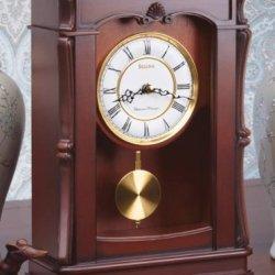 Bulova Abbeville Clock, Walnut Finish