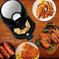NutriChef Digital Air Fryer, Black