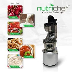 Upgraded NutriChef Masticating Juicer Extractor