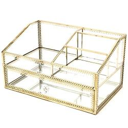 Hersoo Large Accent Glass with Gold Trim Decorative