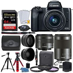 Canon EOS M50 Mirrorless Digital Camera + EF-M 15-45mm f/3.5-6.3