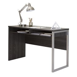 Interface Desk – Sleek Metal Finish – Open Storage