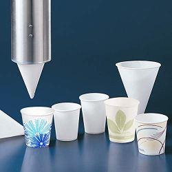Solo 8 oz White Paper Cone Cups (Case of 2500)