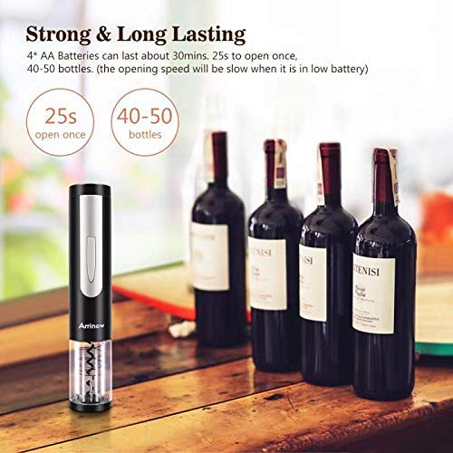 Electric Wine Bottle Opener - Arrinew Battery Operated