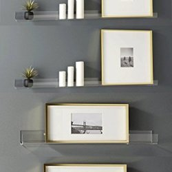Clear Heavy Duty Floating Shelves - (4 Pack)