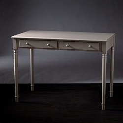 Bowery Hill 2 Drawer Writing Desk in Gray
