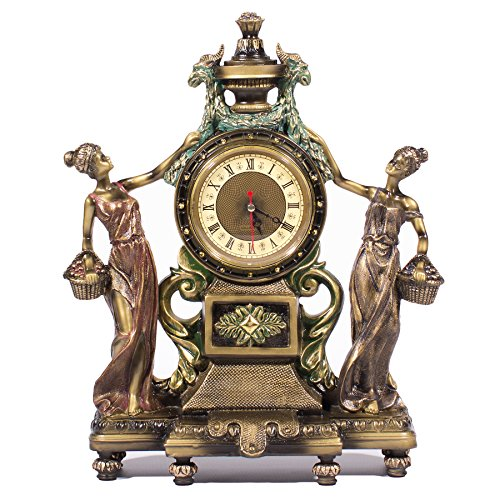 Frisby Victorian Style Clock Statue Figurine in Home Decor