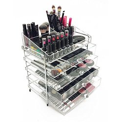 OnDisplay 5 Tier Chromed Steel Frame Acrylic Cosmetic