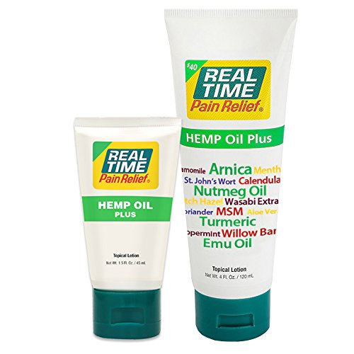 Real Time Pain Relief Hemp Oil Plus (Combo Pack)