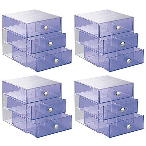 InterDesign 3-Drawer Storage Organizer for Cosmetics