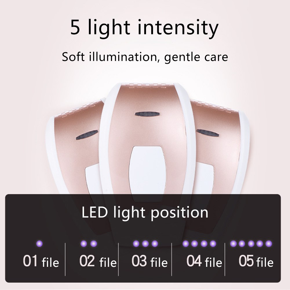 Laser hair removal instrument Freezing epilator Unisex body underarm leg hair lip hair 6