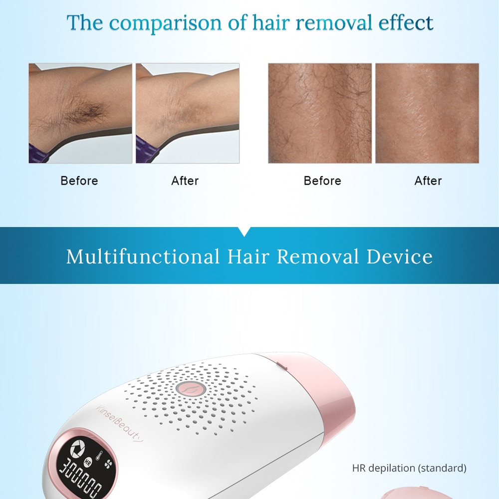 Luxury Permanent IPL Laser Hair Removal Machine 3 in 1 Bikini Trimmer Electric Laser Epilator 300000 Flash Depilador for Women 5