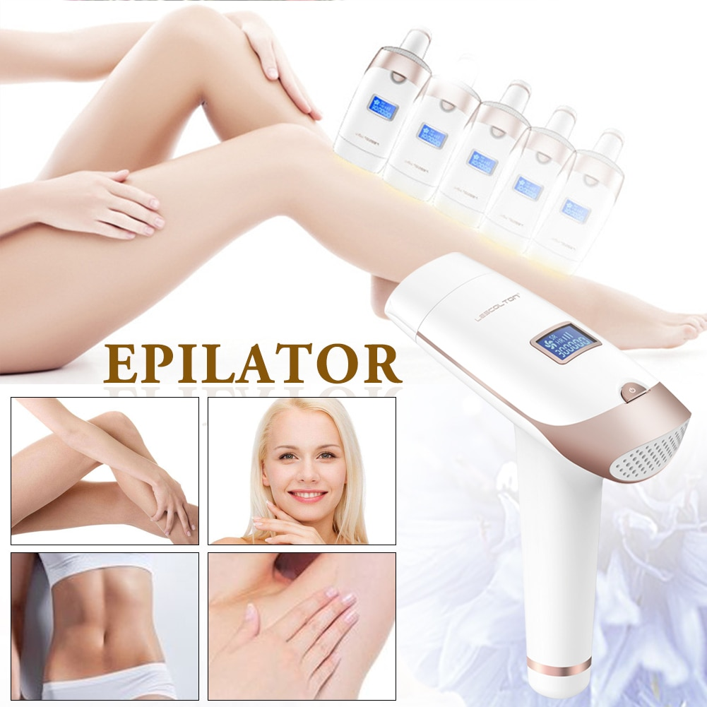Portable Handheld IPL Laser Hair Removal Machine Epilator Permanent Trimmer Electric Depilador For Adult Body Face 2
