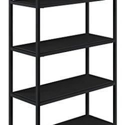 Novogratz Avondale 5 Shelf Bookcase Black