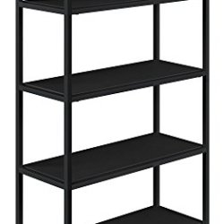 Novogratz Avondale 5 Shelf Bookcase Black