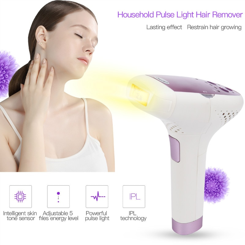 Safety Painless Permanent IPL Laser Hair Removal Machine Photon Pulsed Epilator Whole Body Handheld Laser Lady Shaver Razor S50 10