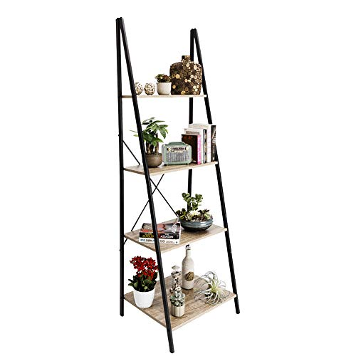 C-Hopetree Ladder Shelf Bookcase Freestanding Plant Stand