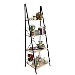 C-Hopetree Ladder Shelf Bookcase Freestanding Plant Stand