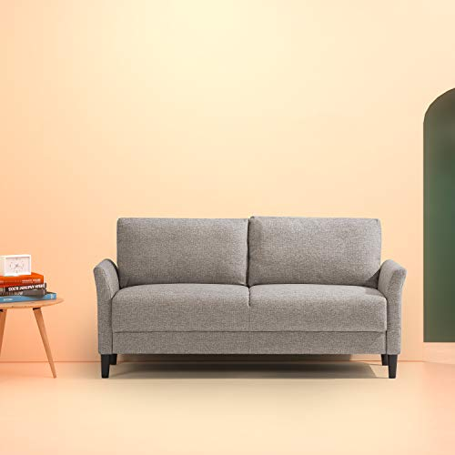 Zinus Classic Upholstered Sofa, Soft Grey