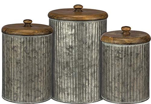Primitives by Kathy Tin Canisters, Galvanized Metal