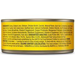 Wellness Natural Grain Free Wet Canned Cat Food, Turkey Pate Wellness Natural Grain Free Wet Canned Cat Food, Turkey Pate, 5.5-Ounce Can (Pack Of 24).
