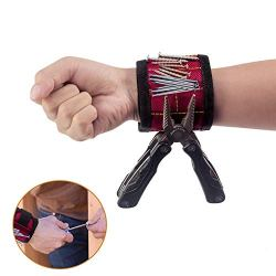 Magnetic Screws Wristband for Holding Screws, Nails, Drilling Bits
