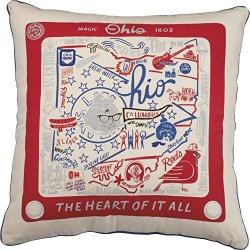 Primitives by Kathy Home Ohio State Cotton Decorative Throw Pillow