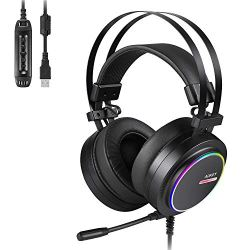 AUKEY Gaming Headset PC USB Stereo Headphone