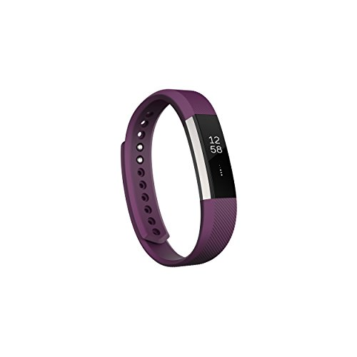 Fitbit Alta Fitness Tracker, Silver/Plum, Small