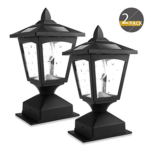 4 x 4 Solar Post Lights Outdoor, Solar Lamp Post Cap Lights