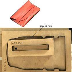 WellieSTR 1 Set DIY Leather Craft Card Holder die Cut Knife