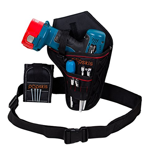 Cordless Drill Holster With Adjustable Belt & Magnetic Wristband Accessories