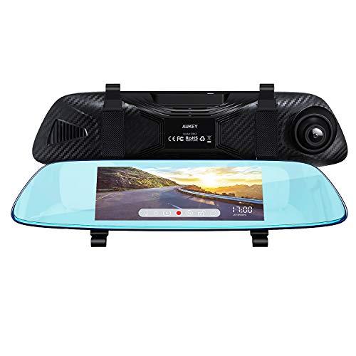 AUKEY Mirror Dash Cam 6.8 inches LCD Touchscreen Car Camera